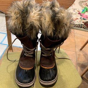 SOREL JOAN OF ARCTIC WOMENS SNOW BOOT BROWN SIZE 8